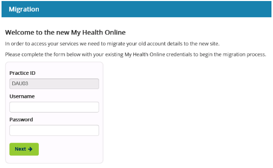 How do I migrate to the updated My Health Online Website?